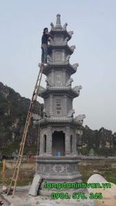 lắp đặt tháp bằng đá cho dòng họ đỗ tại hà nội