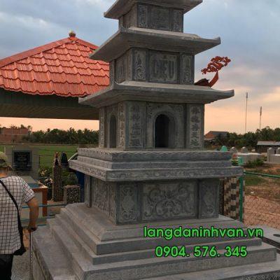 mộ tháp đá lắp đặt tại long an