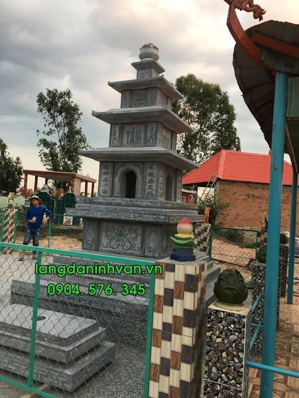 bảo tháp bằng đá tự nhiên nguyên khối