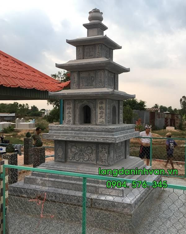 mẫu mộ tháp đựng tro cốt bằng đá đẹp