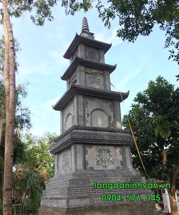 mẫu tháp phật giáo đựng tro cốt bằng đá đẹp