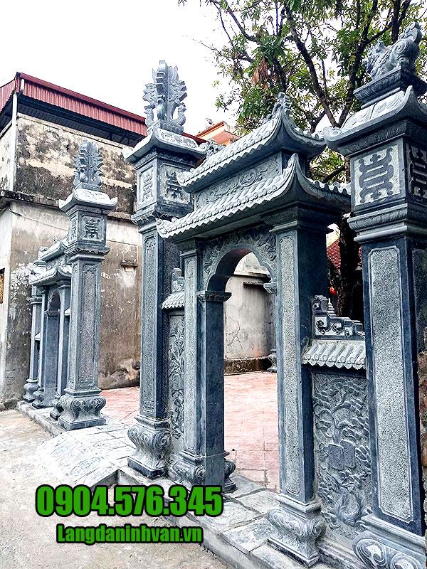 Mẫu cổng nhà tờ họ bằng đá xanh