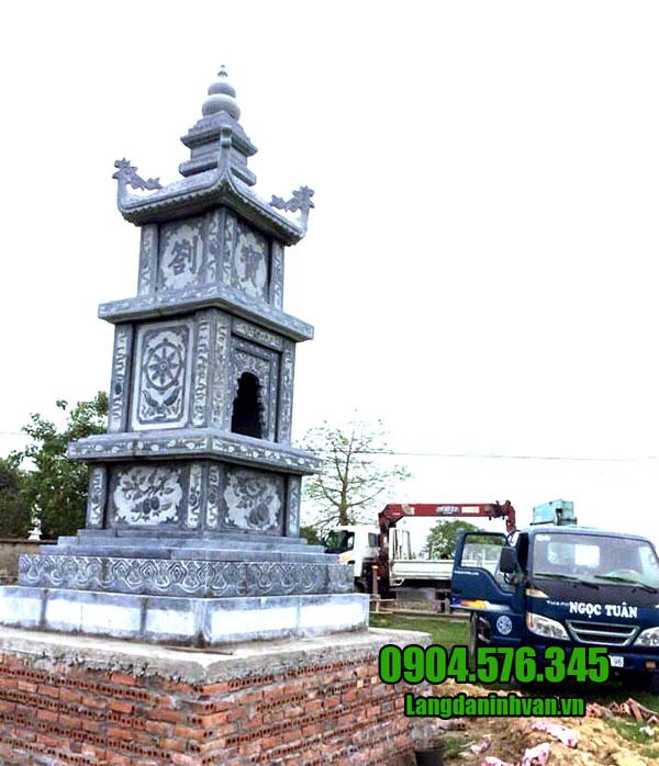 Mộ tháp bằng đá xanh đẹp