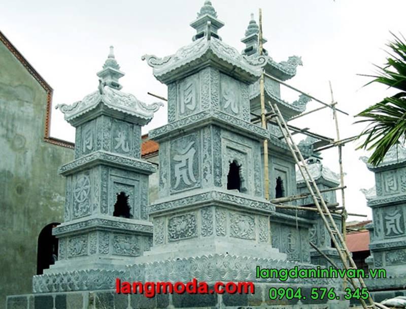 Mẫu mộ tháp đá đẹp - mẫu mộ tháp lắp tại Sài Gòn