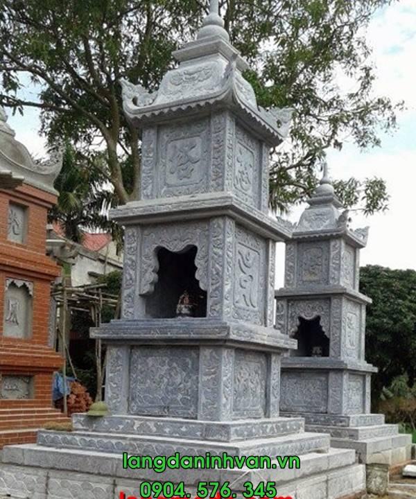 Mẫu mộ tháp đá đẹp - mẫu mộ tháp lắp tại Sài Gòn 003