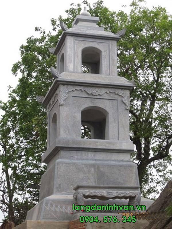 mộ tháp phật giáo bằng đá đẹp 005