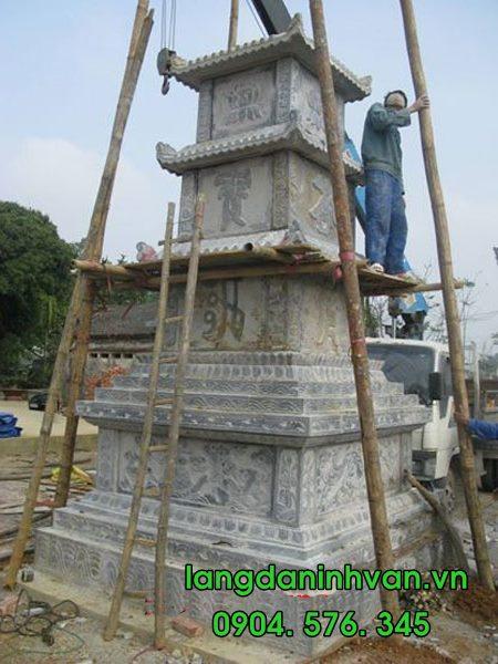 lắp đặt mộ tháp bằng đá đẹp tại sài gòn 006