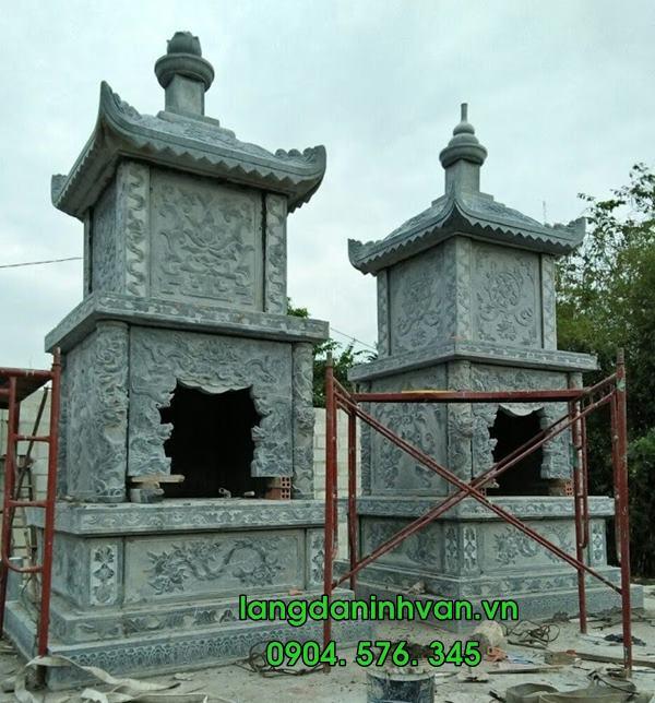 mộ tháp đựng tro cốt bằng đá đẹp tại long an 018