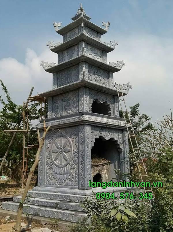 mẫu tháp đựng tro cốt bằng đá đẹp tại đồng tháp 024
