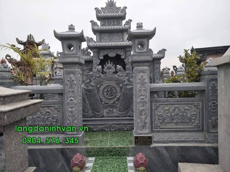 khu lăng mộ bao gồm tháp lan can và cuốn thư tại đồng tháp 036