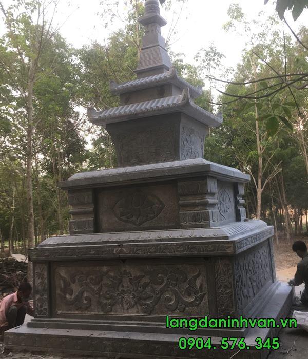 mẫu mộ tháp bằng đá tự nhiên đẹp