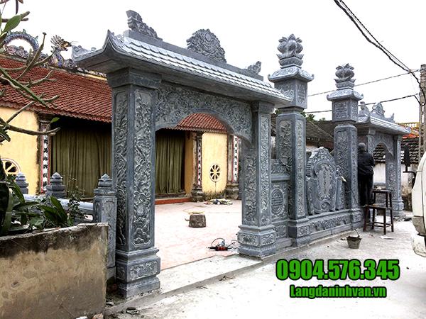 Xây cổng nhà thờ họ bằng đá đẹp