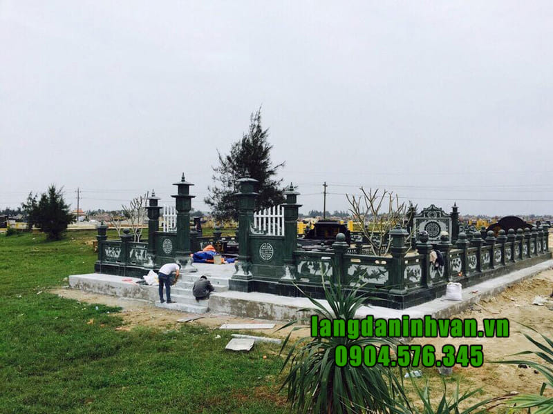 Địa chỉ lắp đặt lăng mộ đá xanh rêu uy tín