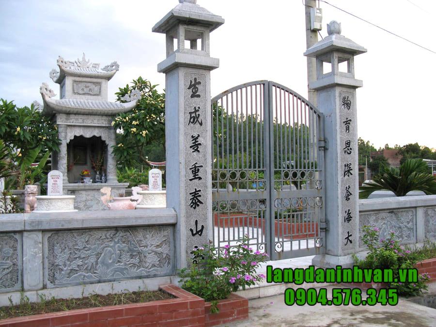 Giá lăng mộ đá tại Ninh Vân