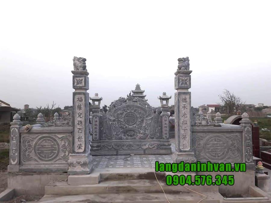 Khu lăng mộ đá dòng họ đẹp