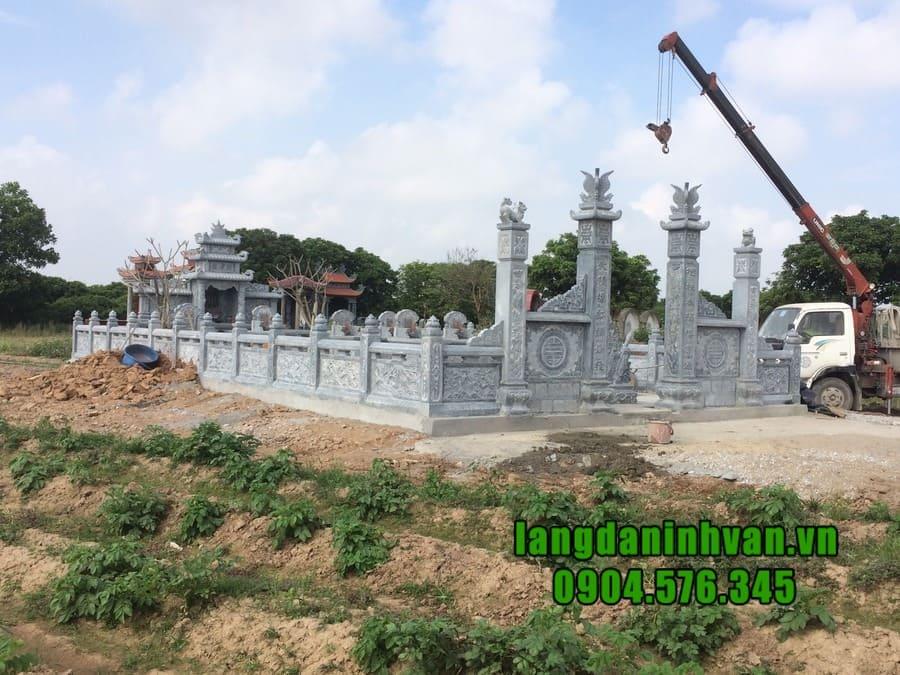 Lắp đặt lăng mộ đá giá rẻ tại Ninh Bình
