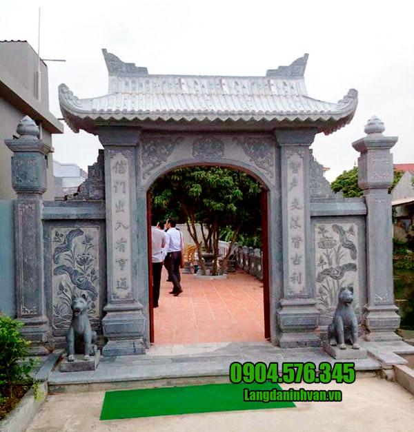 5 Mẫu cổng nhà thờ tộc đẹp - Mẫu cổng nhà thờ tộc bằng đá
