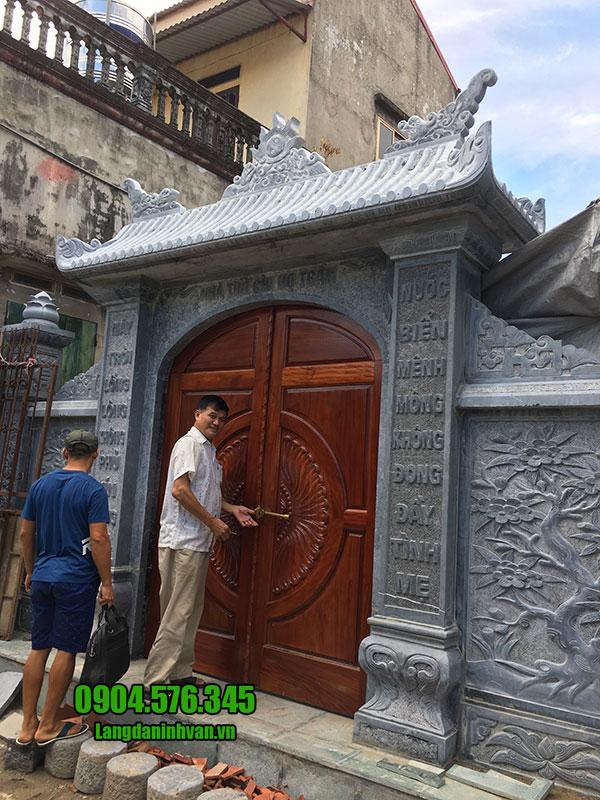 cổng đá đẹp cho nhà thờ tộc
