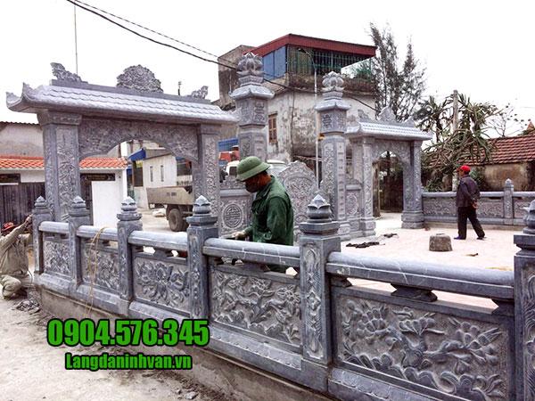 cổng đá nhà thờ tộc đẹp nhất