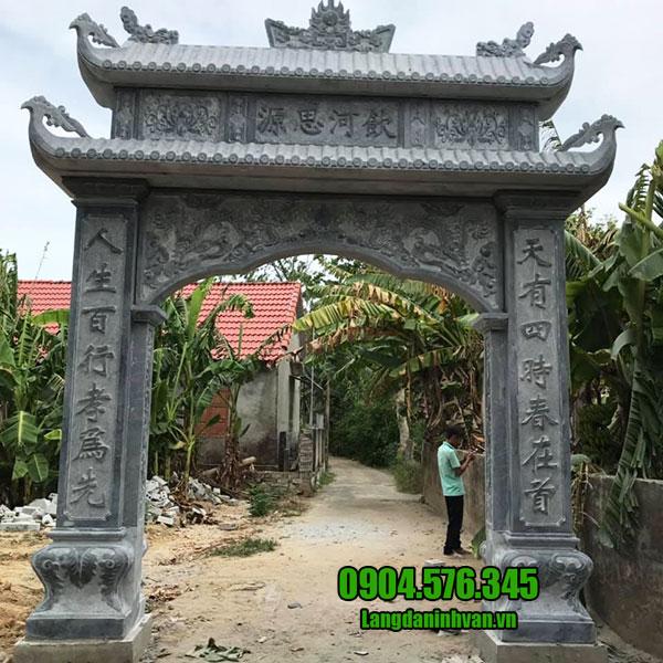 cổng đá nhà thờ tộc đẹp