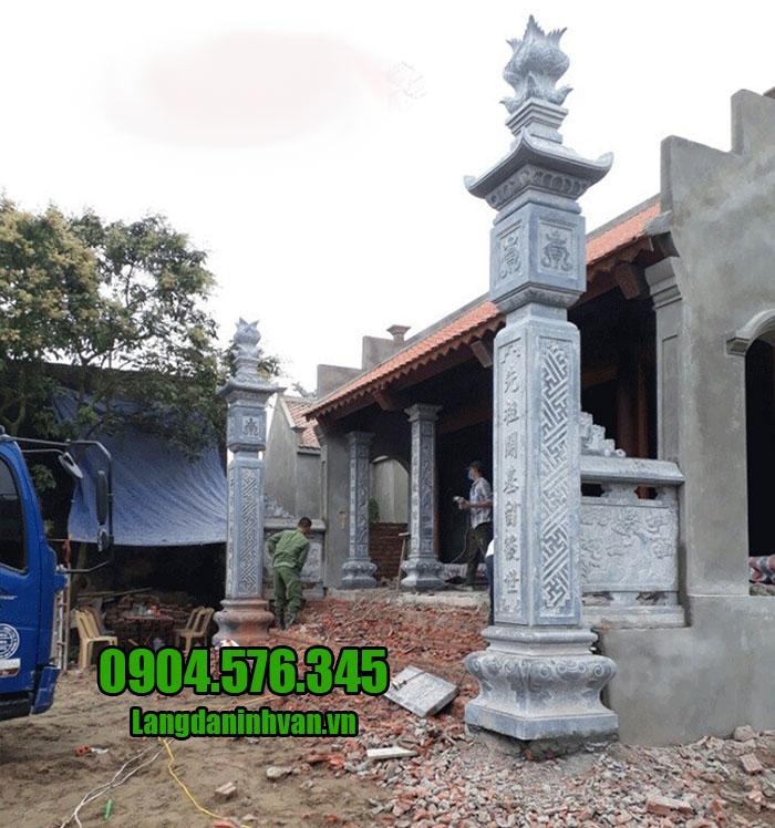 cột đồng trụ đá cho nhà thờ họ