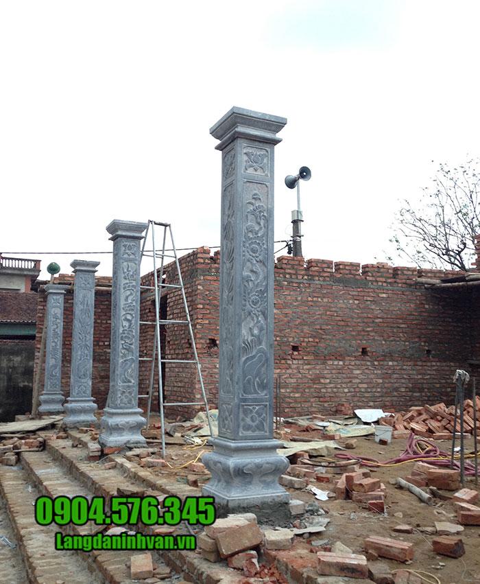 cột hiên bằng đá cho nhà thờ họ