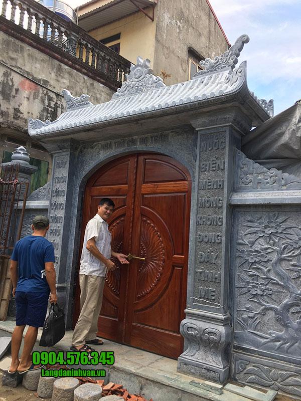 mẫu cổng đá nhà thờ họ đẹp