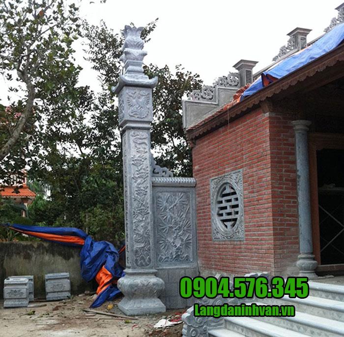 mẫu cột lửa bằng đá cho nhà thờ họ