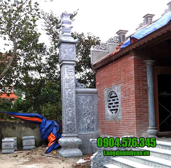 Cột lửa nhà thờ họ - Các mẫu cột lửa bằng đá đẹp chế tác tại Ninh Bình