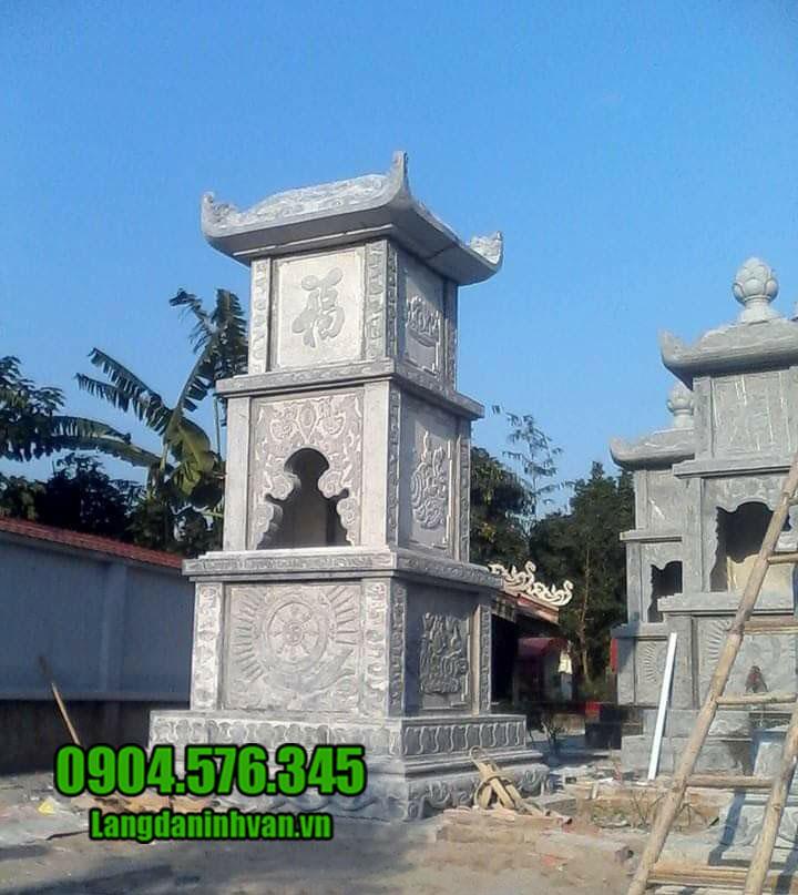 Mẫu mộ hình tháp bằng đá đẹp