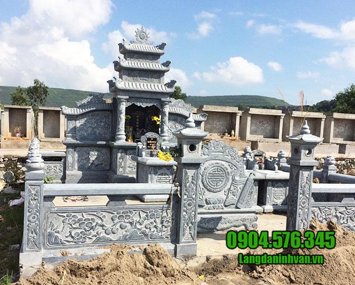mẫu thiết kế khu lăng mộ đá đẹp ninh bình