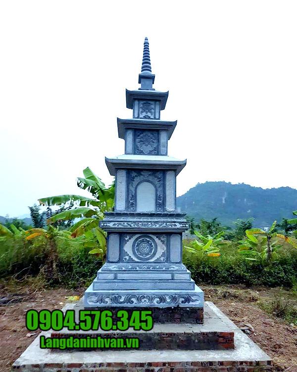 Mộ hình tháp bằng đá đẹp