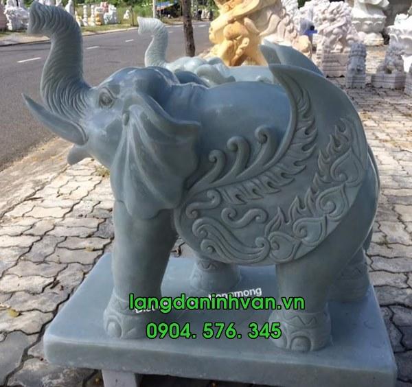 voi đá trắng phong thủy đẹp nhất