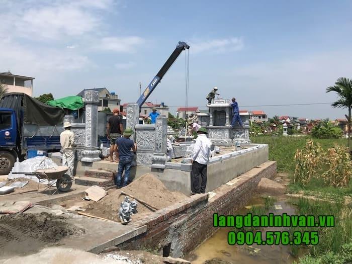 Giá khu lăng mộ đá đẹp tại Ninh Bình