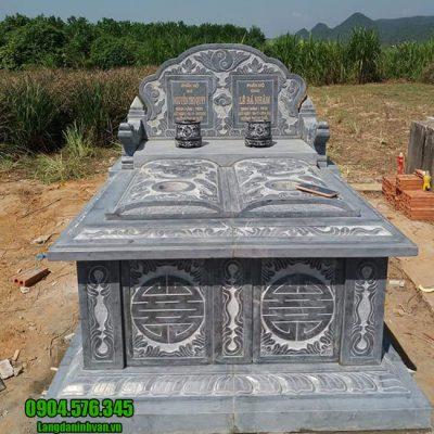 Mẫu mộ đá đôi đẹp