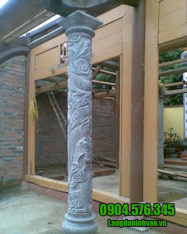 cột chạm khắc rồng đẹp