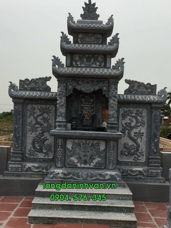 lăng mộ bàng đá xanh tự nhiên đẹp