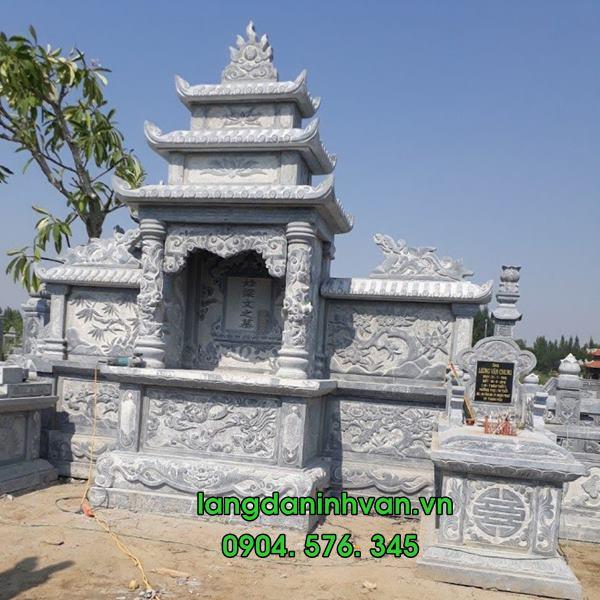 khu lăng mộ đá đẹp được lắp tại hà tĩnh