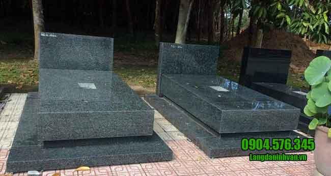 kiểu mộ đá hoa cương nguyên khối đẹp