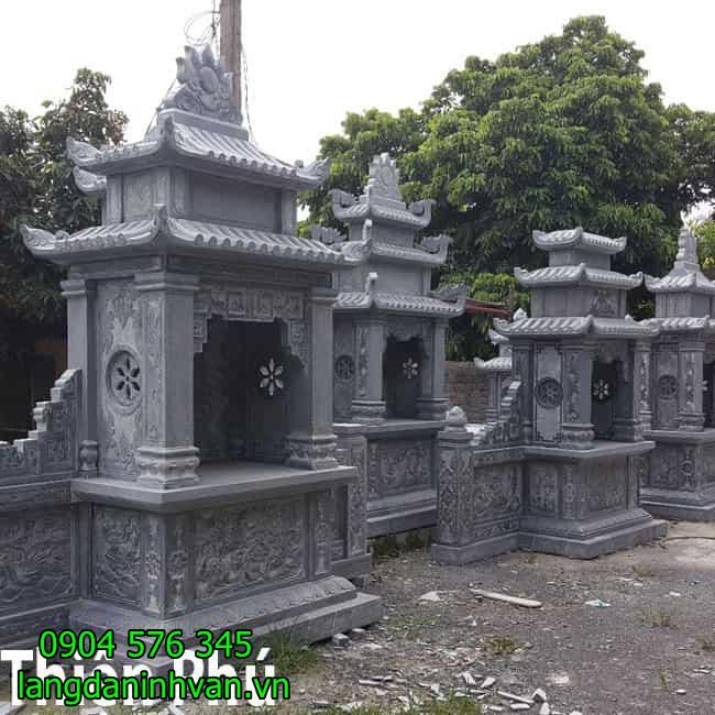 mẫu lăng mộ đá lăng thờ bằng đá xanh tự nhiên