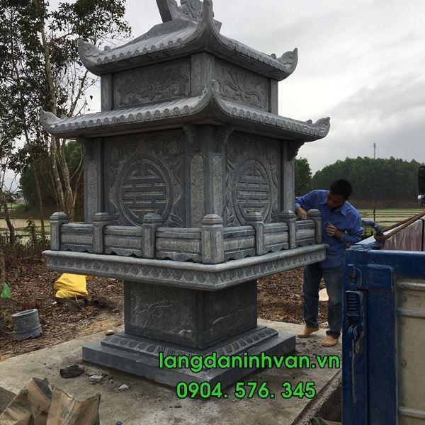 bàn thờ thiên 2 mái bằng đá xanh tự nhiên