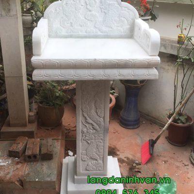 Lắp đặt bàn thờ thiên ngoài trời bằng đá trắng tại Hà Nội