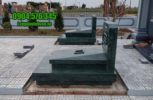 mẫu mộ bằng đá granite nguyên khối