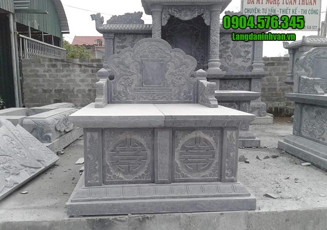 mộ đôi bằng đá xanh đẹp nhất