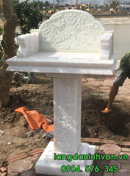 Mẫu cây hương đá trắng đẹp lắp đặt tại Hà Nội