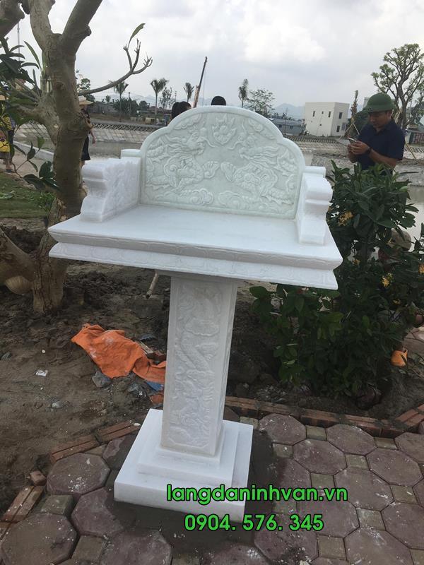 bàn thờ thiên bằng đá trắng lắp tại hà nội