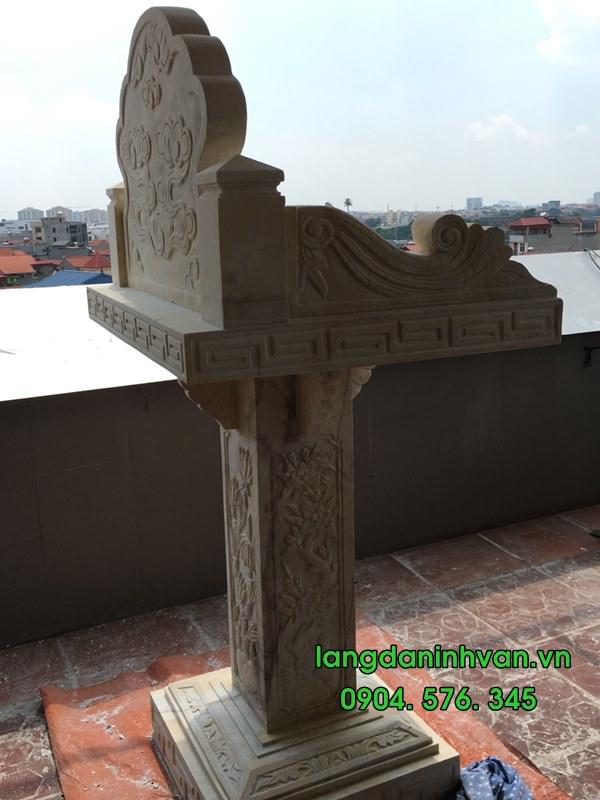 bàn thờ thiên bằng đá vàng đẹp nhất