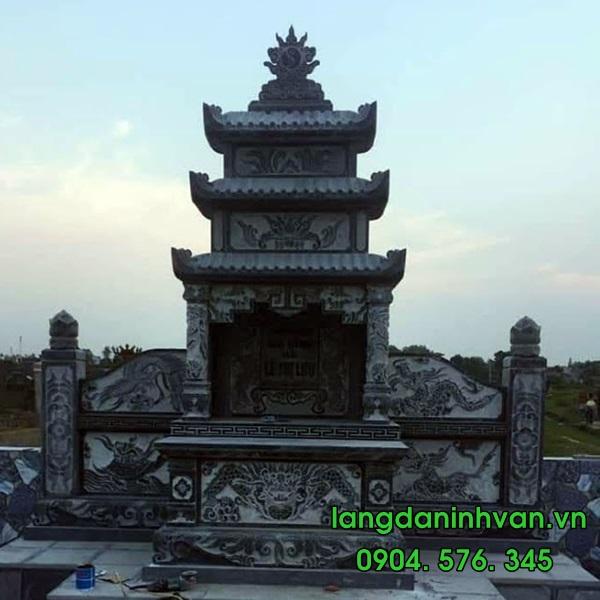 lăng  thờ  bằng đá xanh tự nhiên đẹp
