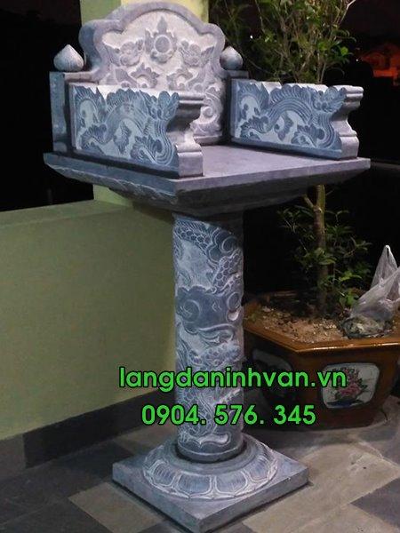 30 Mẫu bàn thờ thiên, am thờ, cây hương bằng đá tự nhiên đẹp nhất