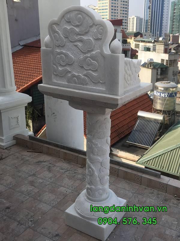 mẫu bàn thờ thiên bằng đá trắng đẹp nhất